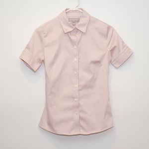Banana Republic Pink Short Sleeve Button Up Shirt